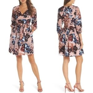 VINCE CAMUTO Burnout Floral Fit & Flare DRESS 2